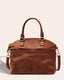 Carrie Dome Satchel - brandy tooled front