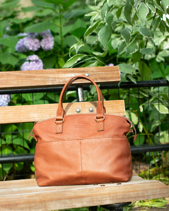 Carrie Dome Satchel - brandy lifestyle