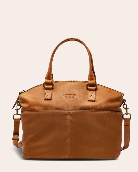 Carrie Dome Satchel - cafe latte front