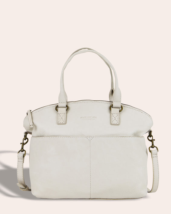 Carrie Dome Satchel - stone front