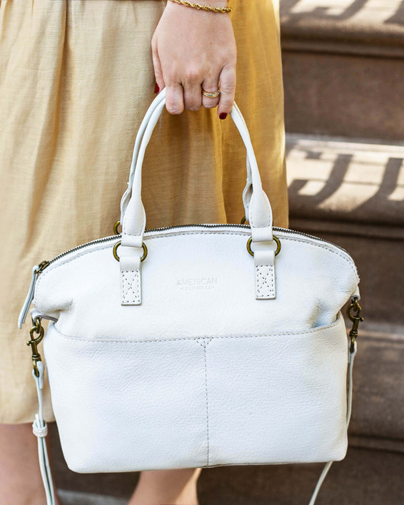Carrie Dome Satchel - stone lifestyle