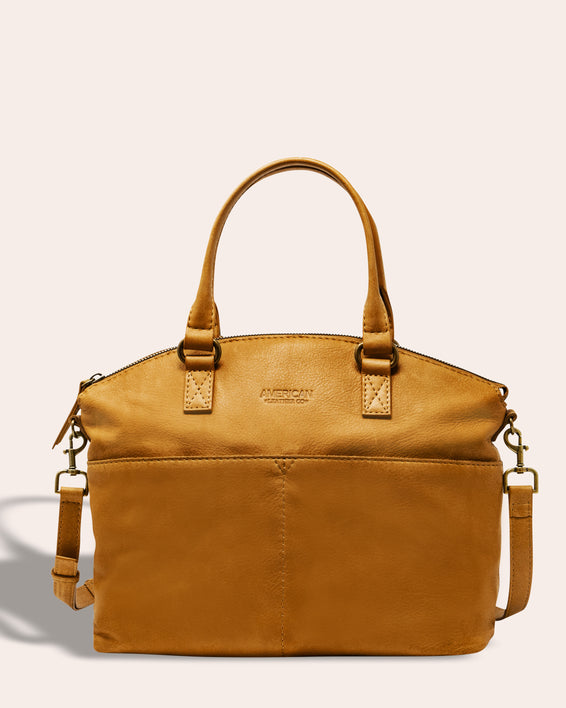 Carrie Dome Satchel - terracotta front