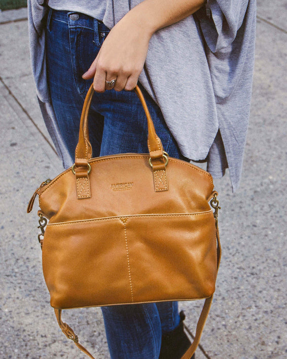 Carrie Dome Satchel - terracotta lifestyle