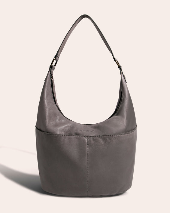 Carrie Hobo - ash grey front