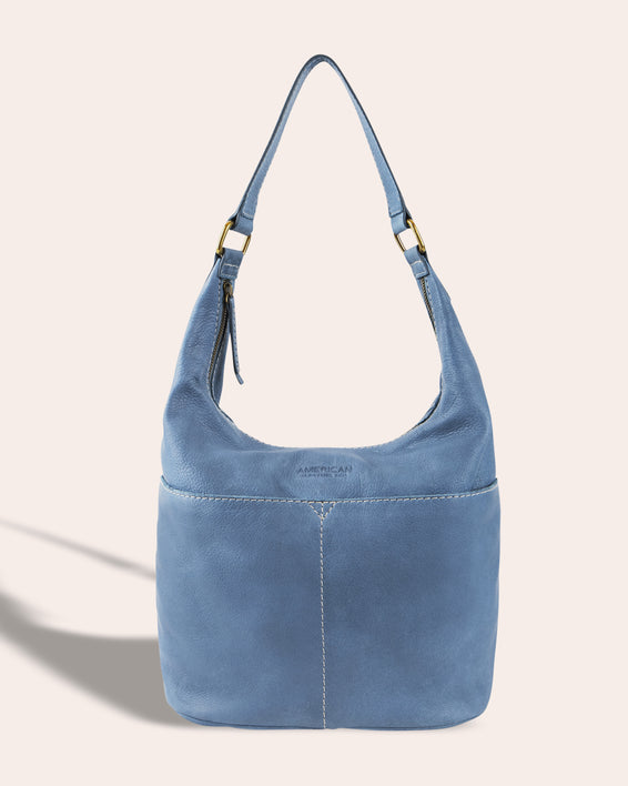 Carrie Hobo - bay blue front