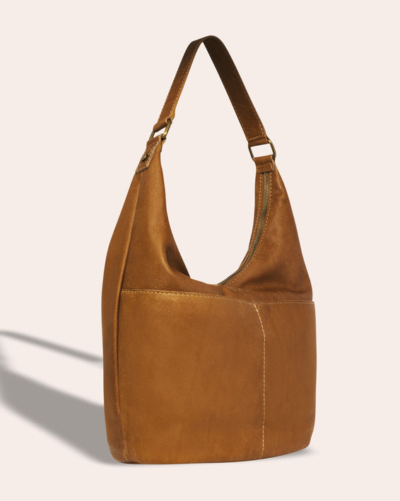 Carrie Hobo - ash grey side angle