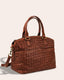 Carrie Woven Dome Satchel - side angle