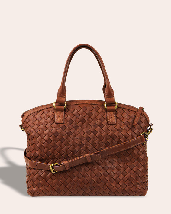 Carrie Woven Dome Satchel - back