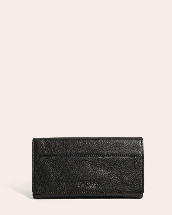 American Leather Co. Clyde Wallet Black - front