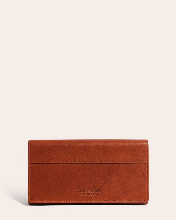 American Leather Co. Clyde Wallet Brandy - front