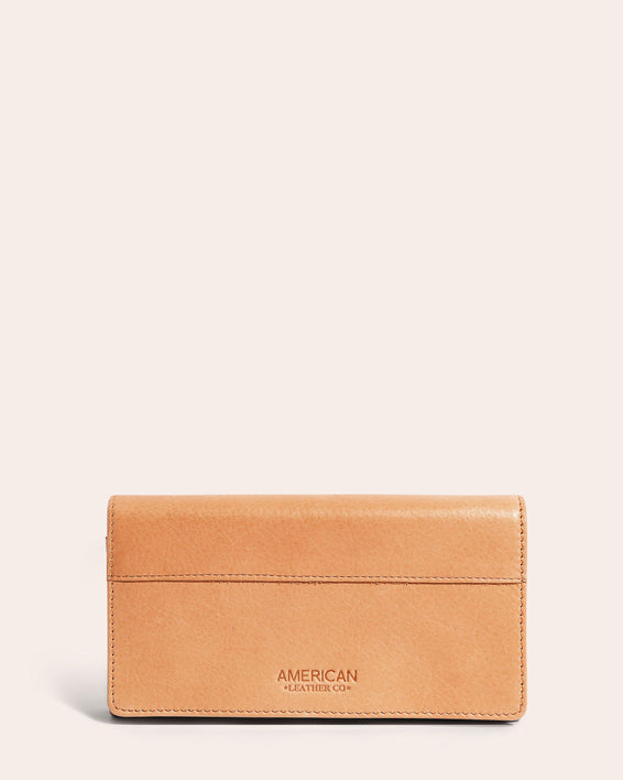American Leather Co. Clyde Wallet Butter Rum - front
