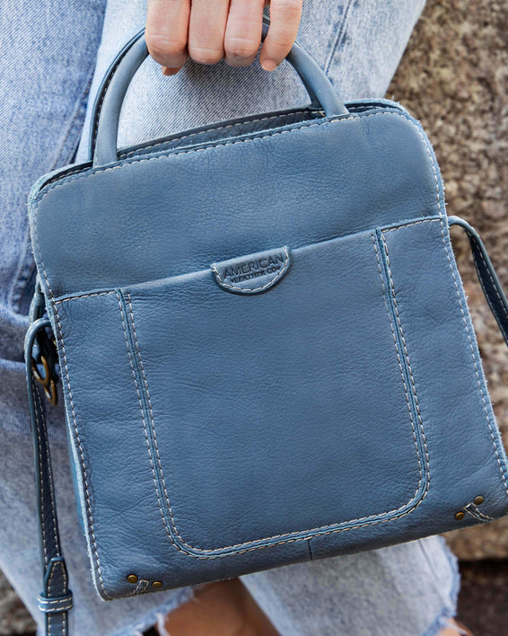 Darien Crossbody - bay blue lifestyle