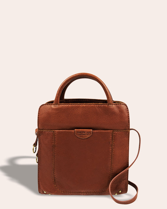 Darien Crossbody - brandy front