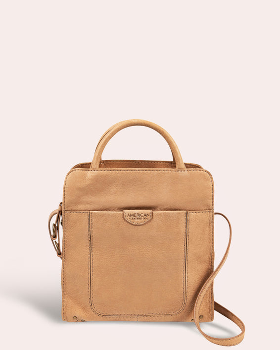 American Leather Co. Darien Crossbody - butter rum front