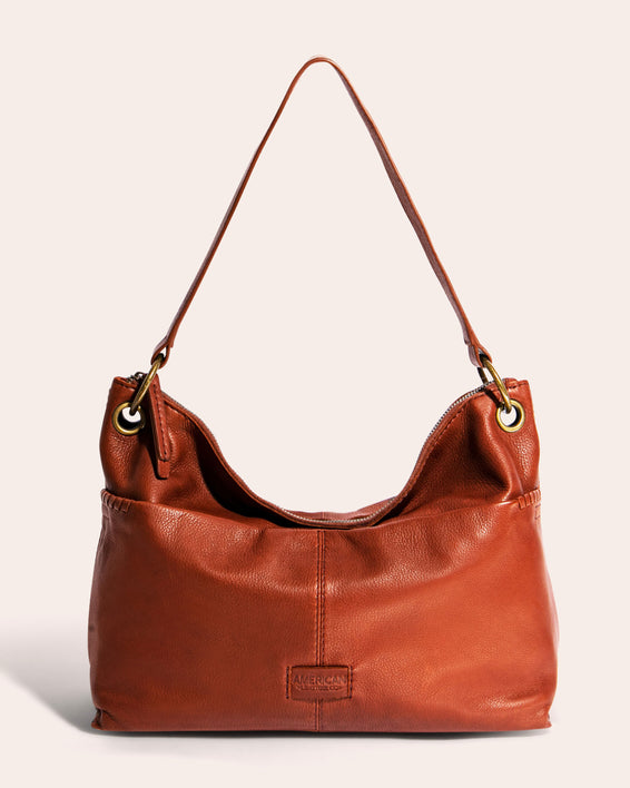 American Leather Co. Davenport hobo - Brandy front