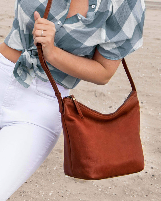 Dayton Crossbody - brandy lifestyle