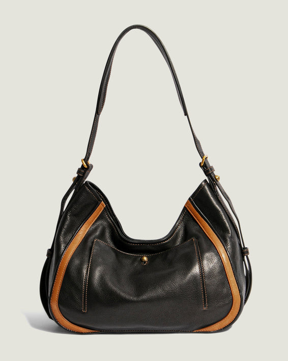 American Leather Co. Aster Shoulder Bag Black - front