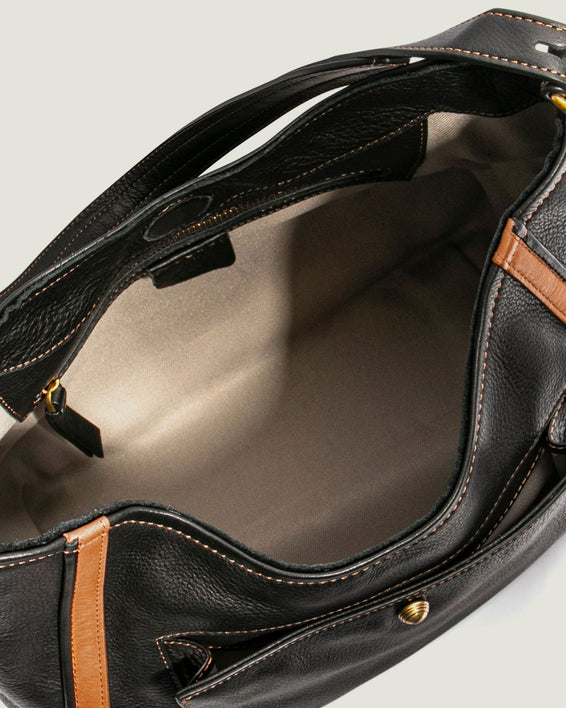 American Leather Co. Aster Shoulder Bag Black - inside