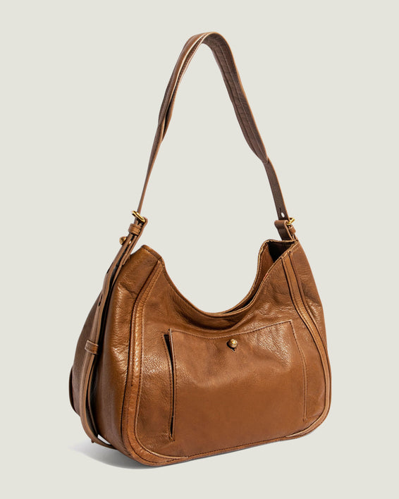 American Leather Co. Aster Shoulder Bag Luggage - side angle