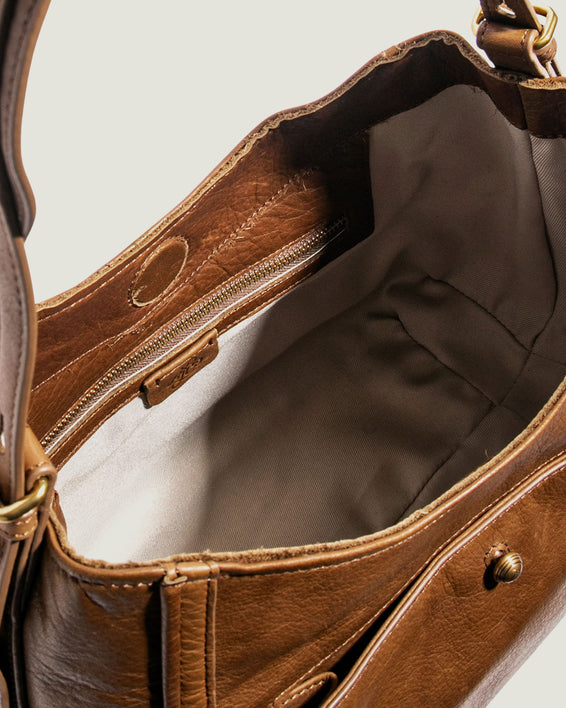 American Leather Co. Aster Shoulder Bag Luggage - inside