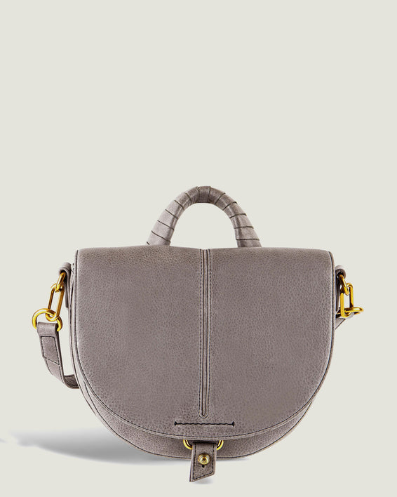 American Leather Co. Butternut Saddle Bag Ash Grey - front