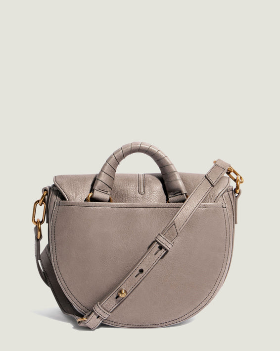 American Leather Co. Butternut Saddle Bag Ash Grey - back