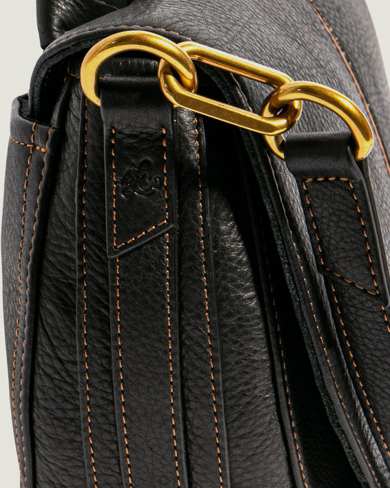 American Leather Co. Butternut Saddle Bag Black - detail