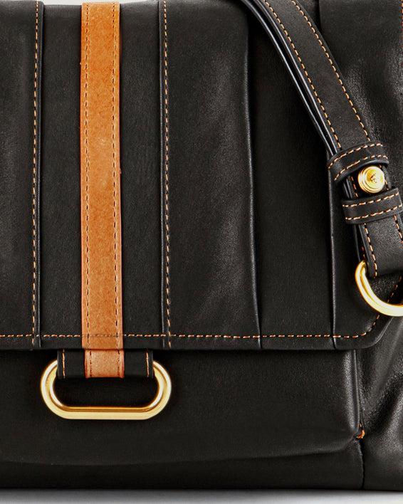 American Leather Co. Camellia Shoulder Bag Black - detail