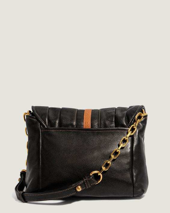 American Leather Co. Camellia Shoulder Bag Black - back