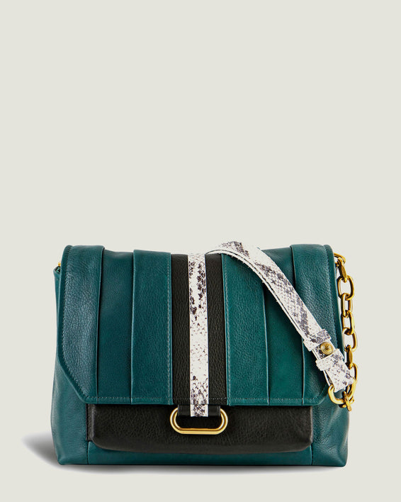 American Leather Co. Camellia Shoulder Bag Emerald - front