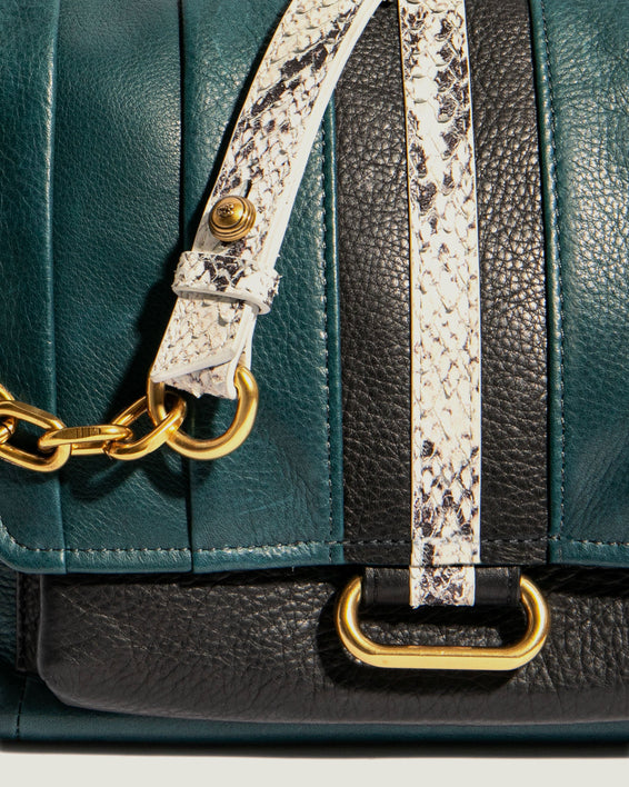 American Leather Co. Camellia Shoulder Bag Emerald - detail