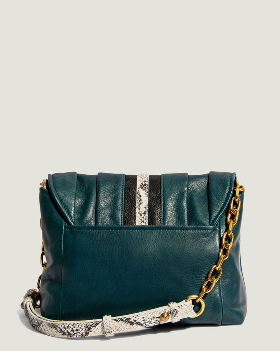 American Leather Co. Camellia Shoulder Bag Emerald - back