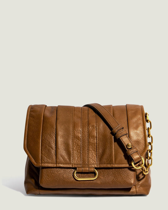 American Leather Co. Camellia Shoulder Bag Luggage - front