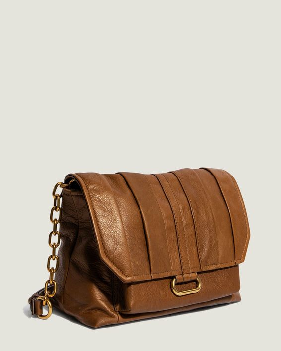 American Leather Co. Camellia Shoulder Bag Luggage - side angle