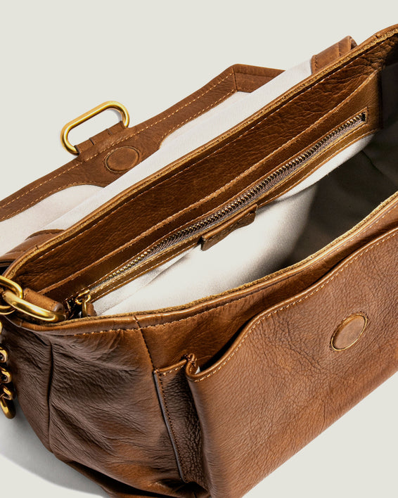 American Leather Co. Camellia Shoulder Bag Luggage - interior functionality