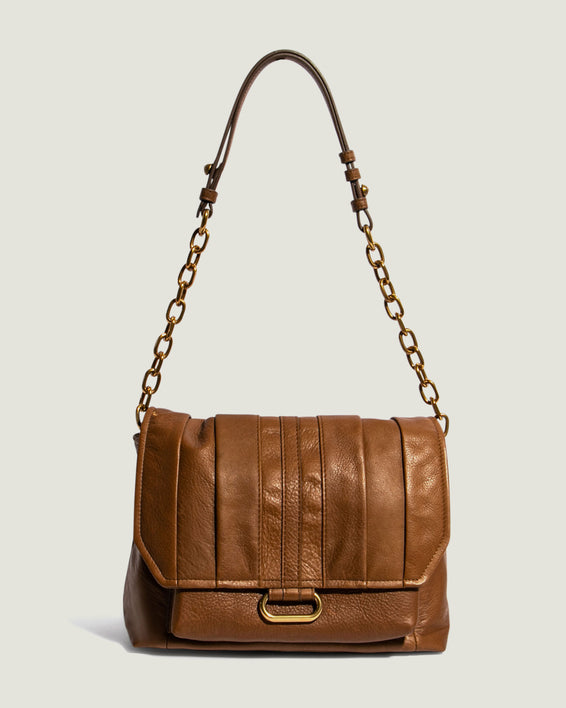 American Leather Co. Camellia Shoulder Bag Luggage - chain link strap