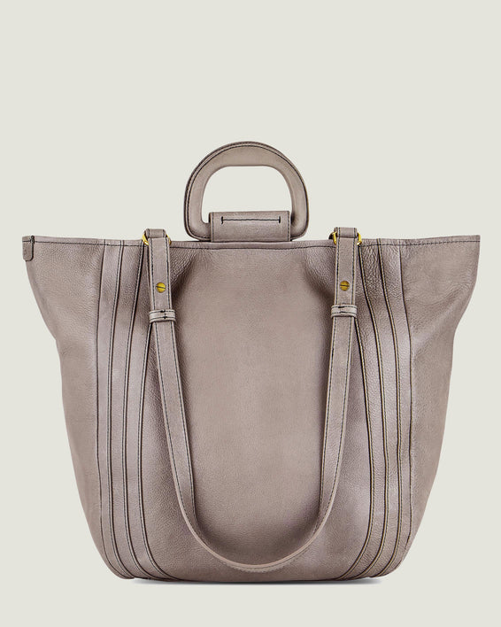 American Leather Co. Spruce Convertible Tote Ash Grey - front