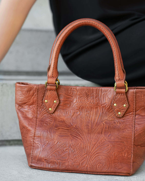 Frenchie Mini Tote - dark beige lifestyle
