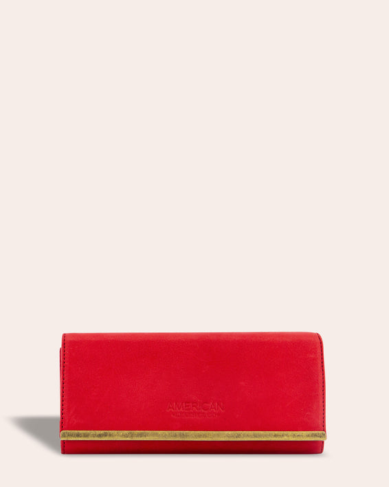 Jackson Wallet - heritage red front