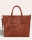 Kelly Tote - brandy tooled front