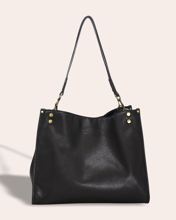 Lenox Triple Entry Satchel - black front