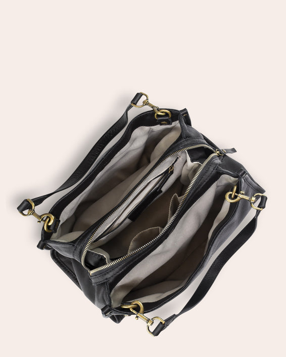 Lenox Triple Entry Satchel - inside