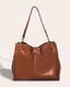 Lenox Triple Entry Satchel - brandy front