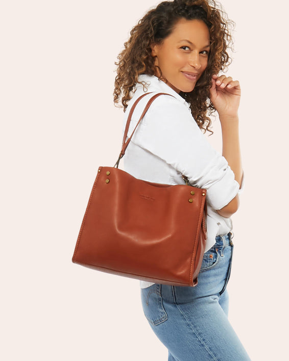 Lenox Triple Entry Satchel - brandy lifestyle