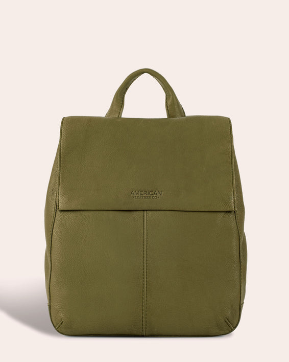 American Leather Co. Liberty Backpack - olive green front