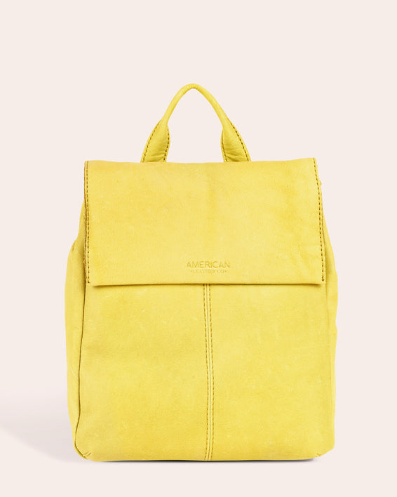 American Leather Co. Liberty Backpack - pale yellow front