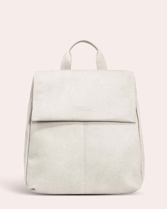 American Leather Co. Liberty Backpack - stone front