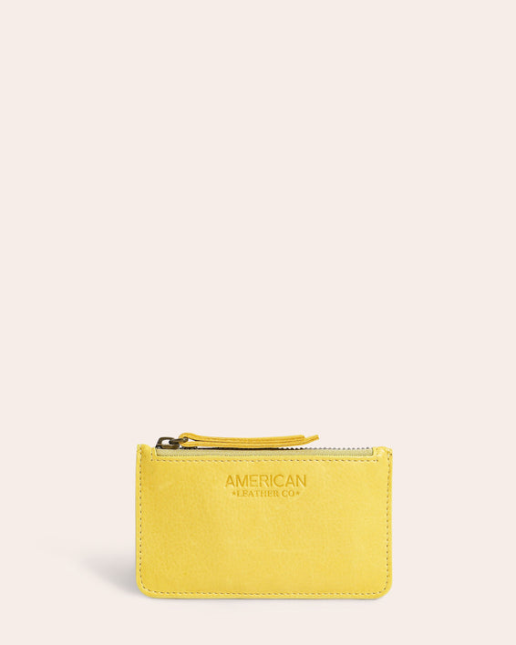 American Leather Co. Liberty Wallet With RFID Pale Yellow - front