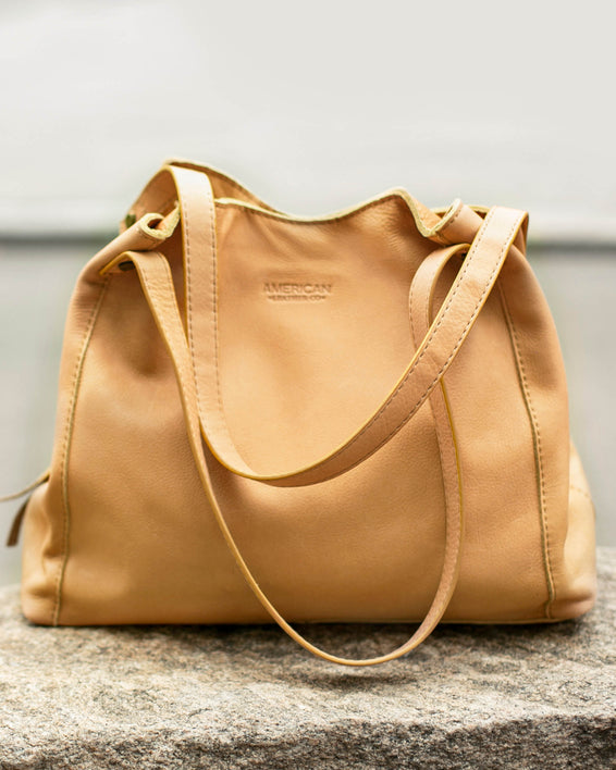 Liberty Shopper - pale yellow lifestyle