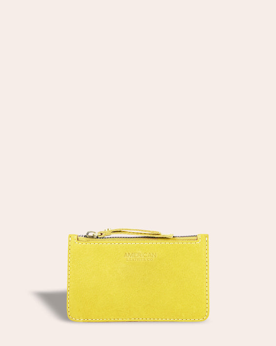 Liberty Wallet - pale yellow front